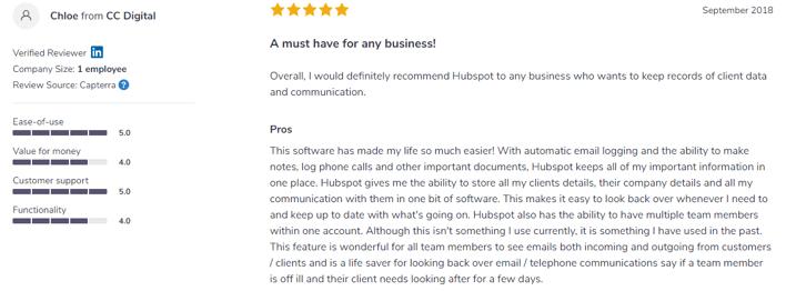 HubSpot Sales Reviews-12 - softwareadvice