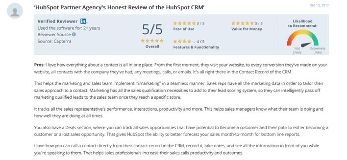 HubSpot Service Reviews-11 - capterra