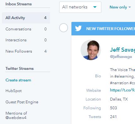 Hubspot Social Tool Create Stream