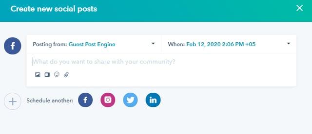 Hubspot Social Tool Facebook Post