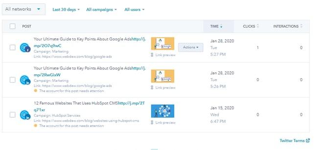 Hubspot Social Tool Manage Social Posts