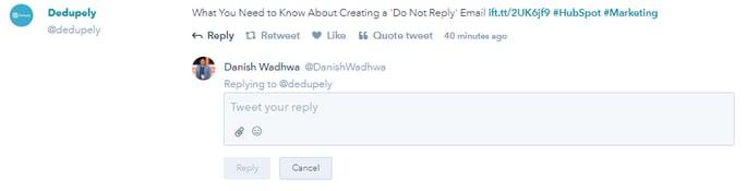 Hubspot Social Tool Tweet