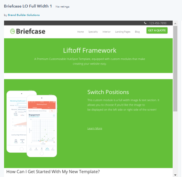 Hubspot Templates - Briefcase Full Pack Template