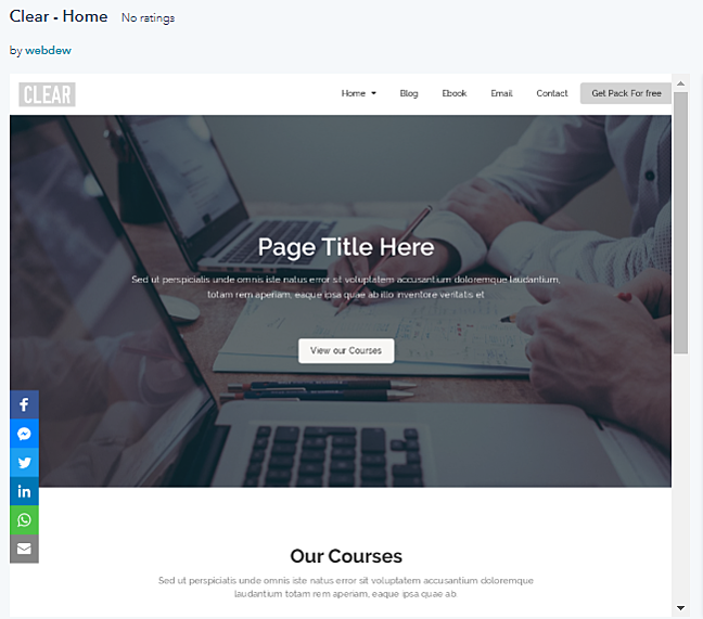 Hubspot Templates - Clear FREE Template Pack
