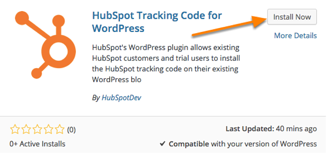 HubSpot tracking code for wordpress
