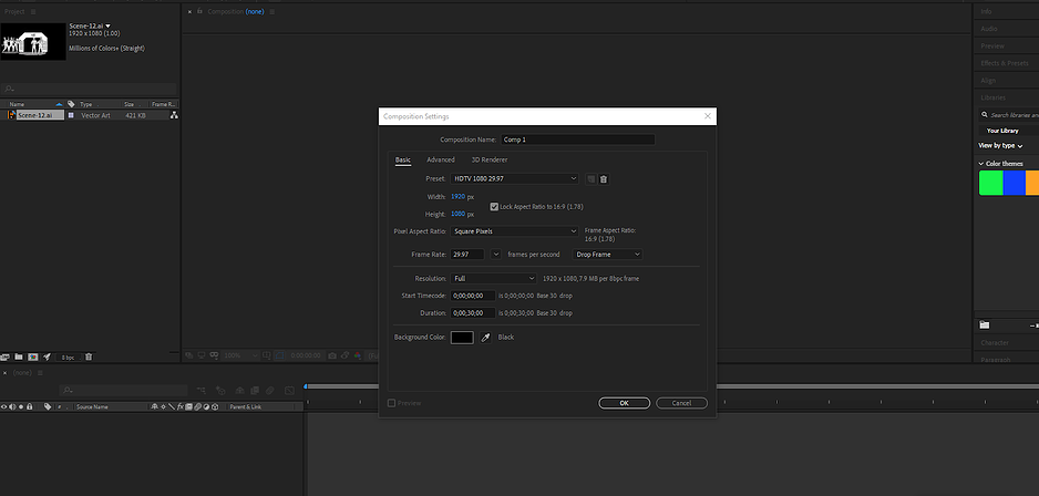 import -the-graphic-files-into-after-effects