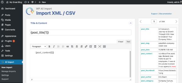 import xml or csv