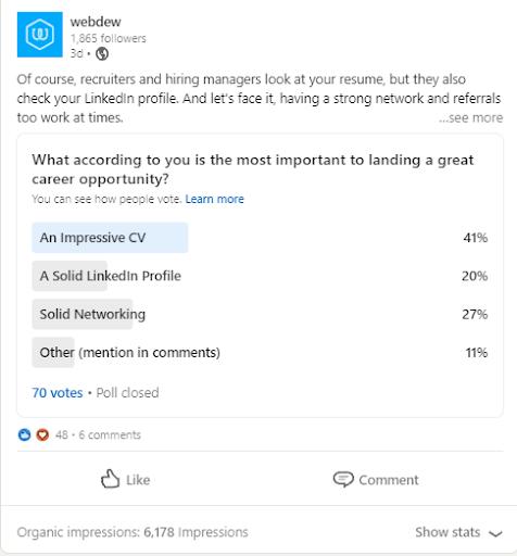 linkedin-poll-stats
