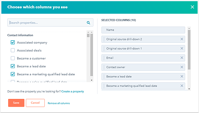 Manage Leads In Hubspot Sorting Contacts