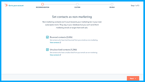 Marketing Contacts