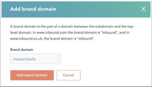 New Hubspot CMS Brand Domain