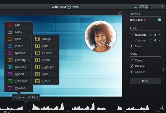 Screencast o matic software
