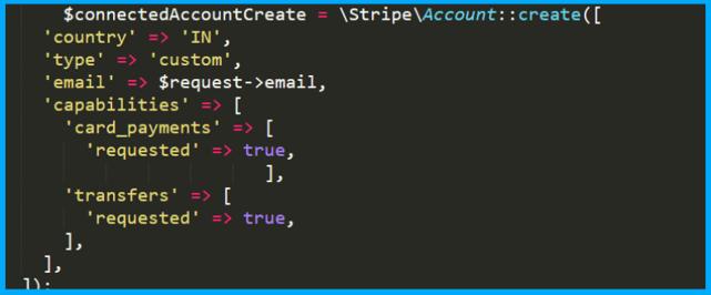 set account type