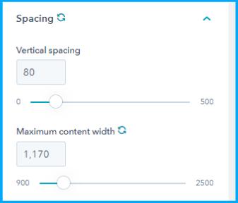 Spacing setting