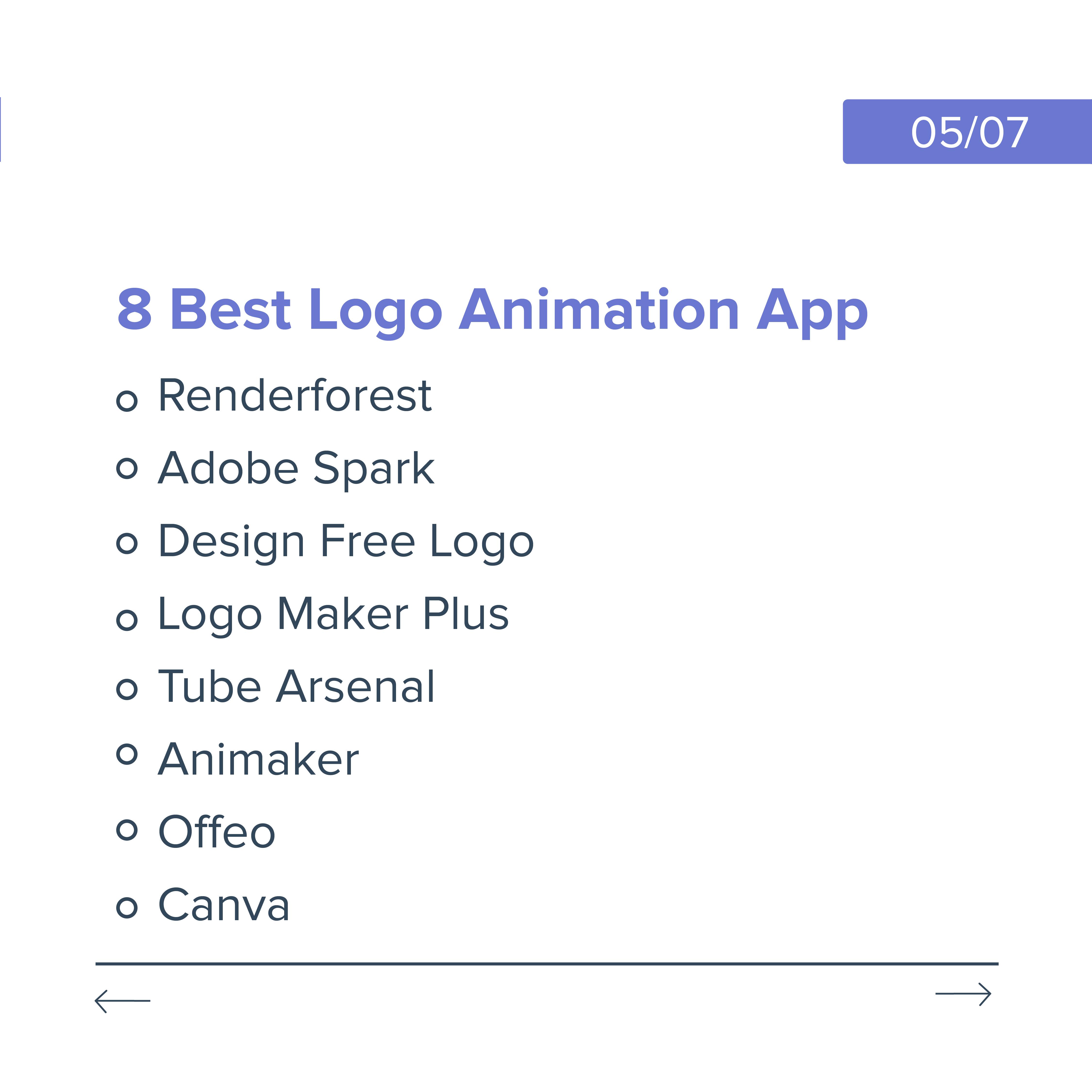 top 8 logo animation app