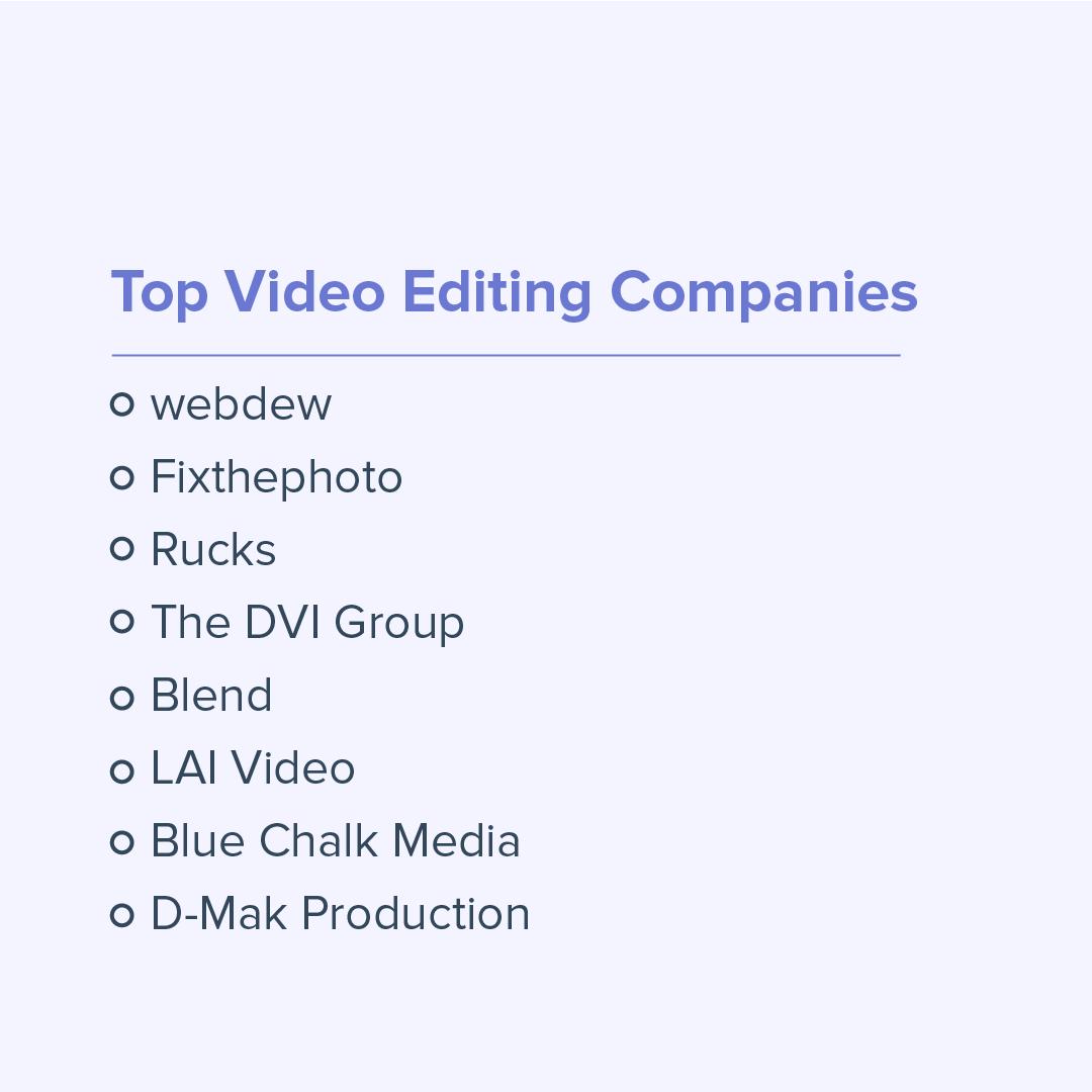 top-video-editing-companies