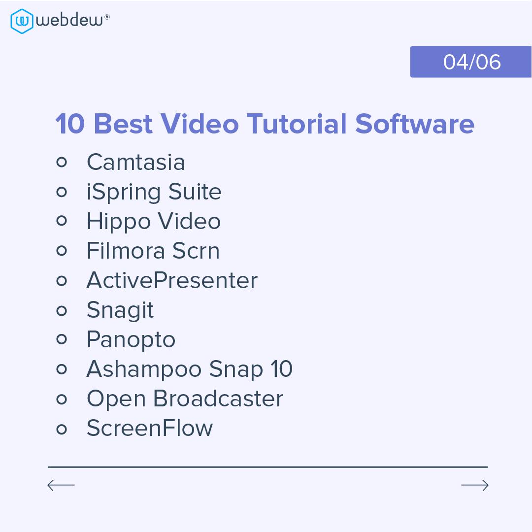 top-video-tutorial-software