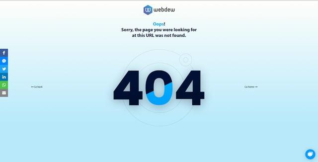 webdew-404-error-page