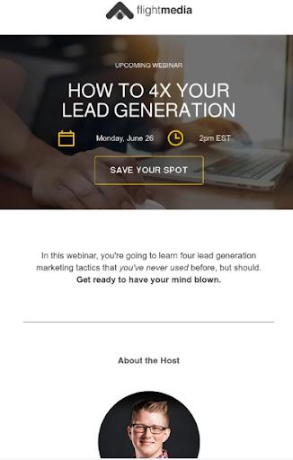 Webinar Hubspot Email Template