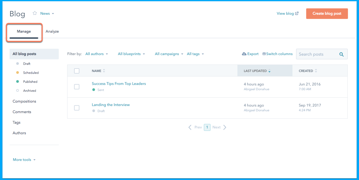 what-is-hubspot-manage-blog-dash