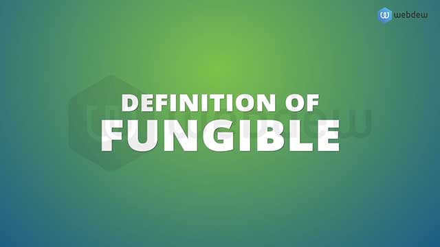 Webdew Portfolio - Definition of Fungiblity
