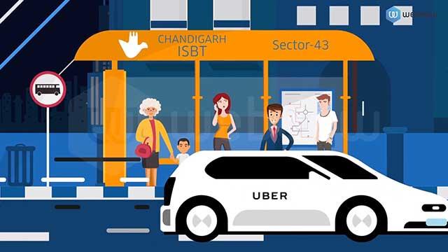 Webdew Portfolio - UBER Intercity Rides