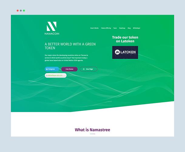 Webdew Portfolio - Namacoin