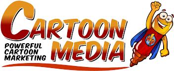 Cartoon media logo