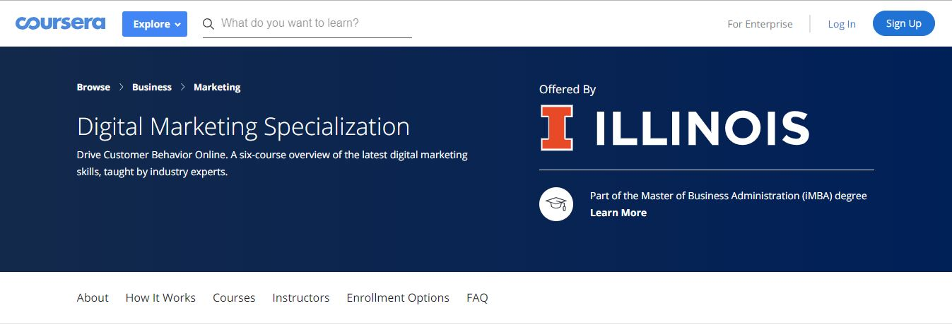 Coursera's Digital Marketing Specialization