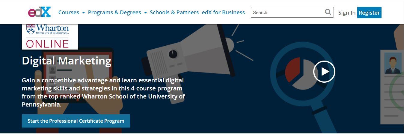 edX Digital Marketing Course