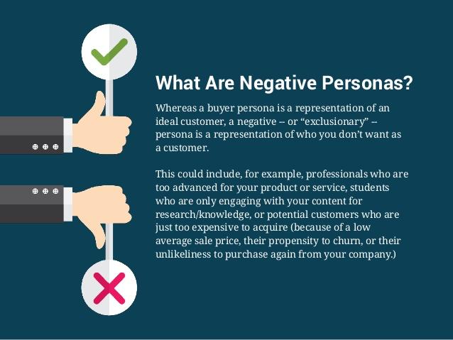 Negative buyer personas