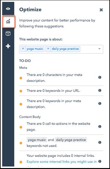 SEO optimize webpage