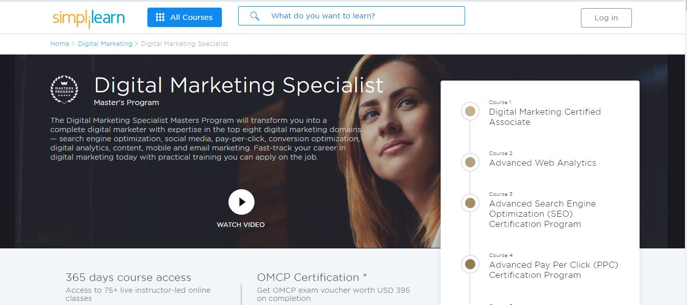 Simplilearn's Digital Marketing Specialist Master's Program