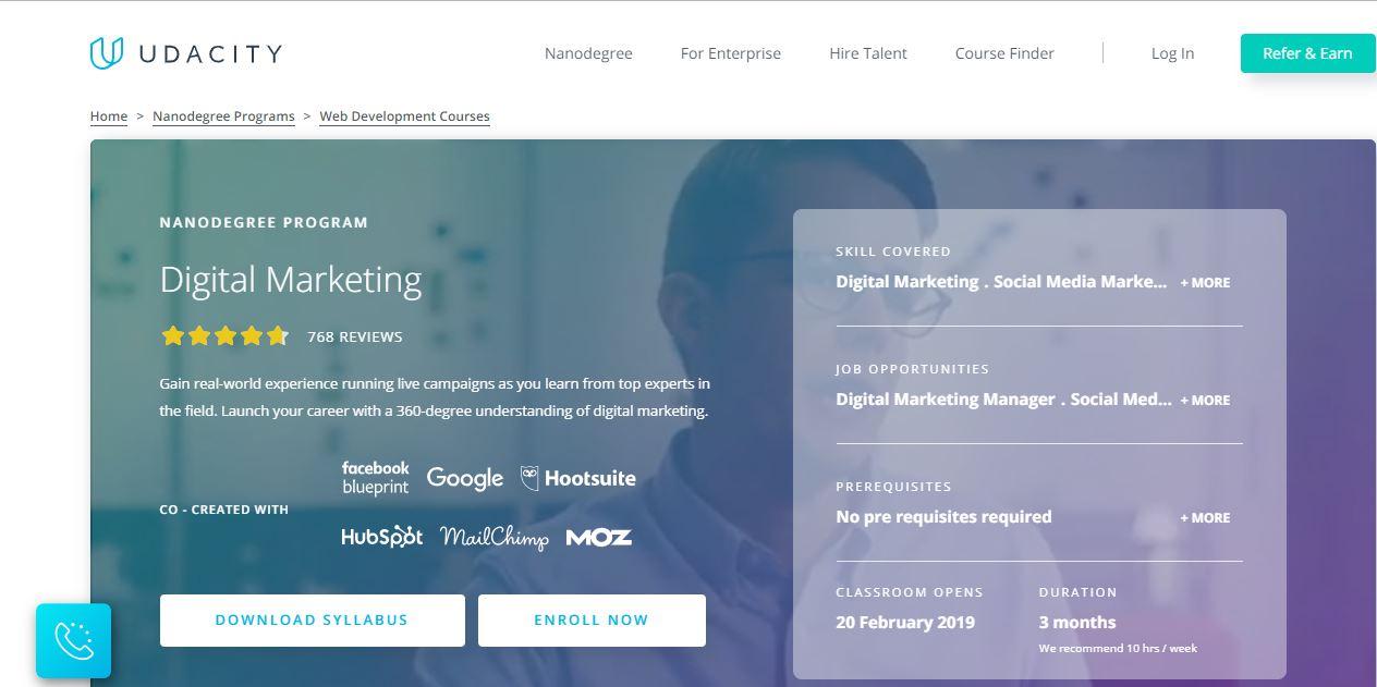Udacity Digital Marketing Nanodegree Program
