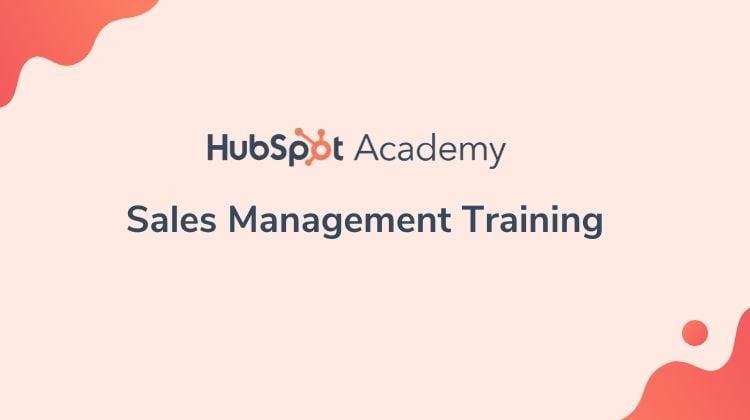 HubSpot Sales management training Certification